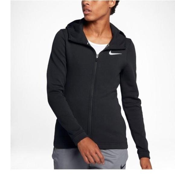 Black Nike Hooded Zip Up Jacket Large